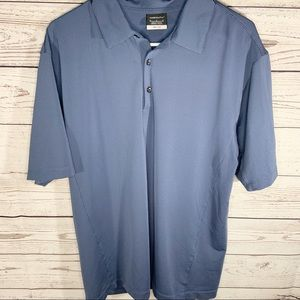 Men's Nike Golf Dri-fit Polo Blue Gray Sz M
